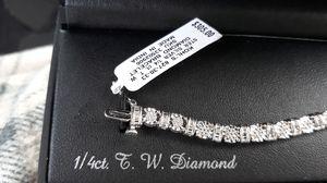 1/4 ct tw diamond bracelet for Sale in Columbus, OH