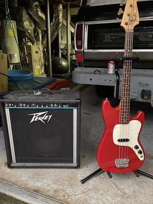 1969 Fender Musicmaster Bass guitar and amp for Sale in Atlanta, GA