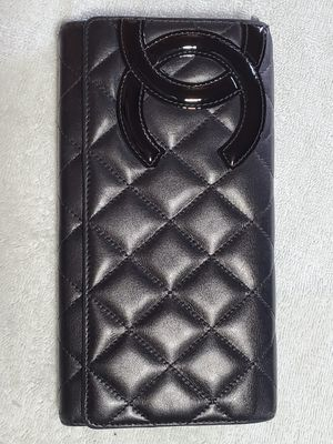 Authentic Chanel Cambon Long Wallet Black for Sale in Issaquah, WA