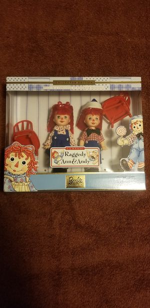 Vintage Barbie Raggedy Ann and Andy set 1999 NIB for Sale in Fairfax, VA