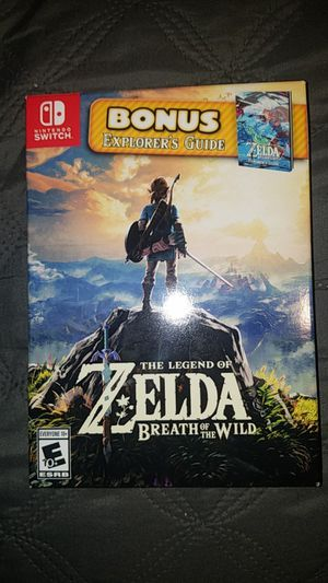 Limited Edition Zelda: Breath Of The Wild With Explorer's Guide for Sale in Stockton, CA