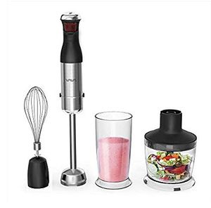 NEW! Powerful 4-in-1 Multifunctional Electric Immersion Hand Blender Set - Includes 500ml Food Chopper, Egg Whisk, and BPA-Free Beaker (600ml) for Sale in Stuart, FL