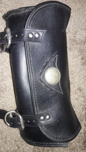 "Motorcycle Black Leather Bag 12""L x 4""W x 6""H for Sale in Los Angeles, CA"