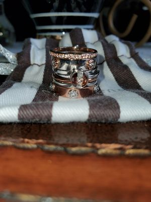 Henri Bendel stacking rose gold and silver studded for Sale in Tampa, FL