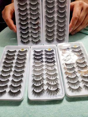 10 pairs of eyelashes for Sale in Glendale, AZ