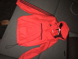 Authentic Adidas reflective windbreaker hoodie for Sale in Riverview, FL