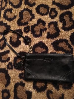 Shiny Black Coach Wristlet for Sale in Columbus, OH