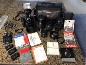 Used great condition Sony a 200+5 lenses and more for Sale in Silver Spring, MD