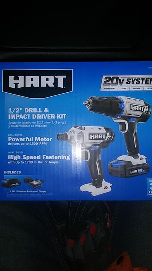 """20v Hart 1/2"""" Drill & Impact Driver Kit for Sale in Tacoma, WA"""