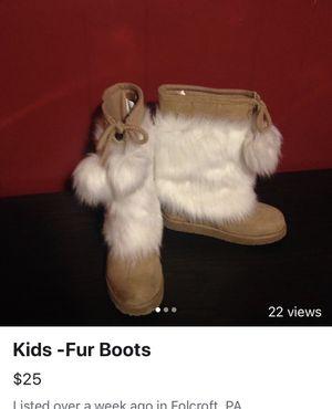 Girls Fur Gap. Boots for Sale in Folcroft, PA
