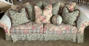 Slip Cover Sofa - Oversized Loveseats & Fourteen Pillows 3-Piece Set Pottery Barn *READ ENTIRE DESCRIPTION BELOW ⬇️ for Sale in Corona, CA
