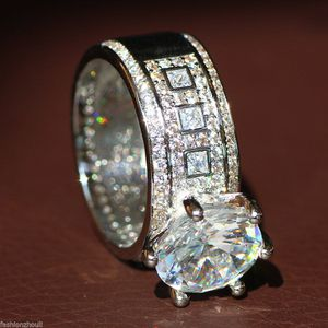 *NEW ARRIVAL* STUNNING White Sapphire Size 11 Engagement Wedding Ring *See My Other 200 Items* for Sale in Palm Beach Gardens, FL