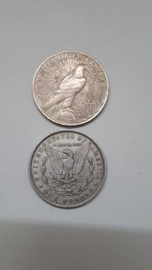 Silver dollars attractable for any collection 1921 peace,1888 Morgan dollar s,semi key. for Sale in Clearwater, FL