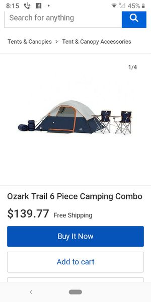 Ozark trail 4 man tent and camping package for Sale in Tacoma, WA