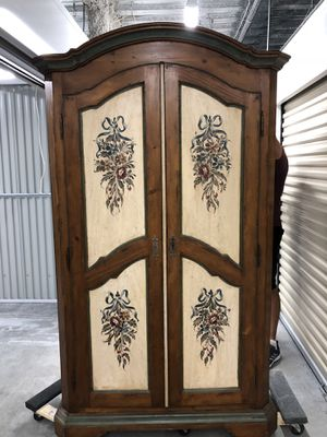 Italian armoire wardrobe for Sale in Boca Raton, FL