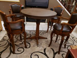 Hi Top Table and Quality HiTop Leather Bar Seats for Sale in Apopka, FL