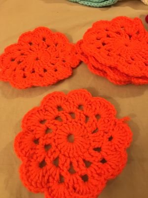 Handmade crochet coasters for Sale in Gans, OK