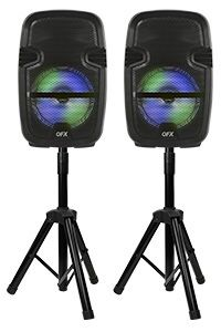 2 x 8 INCH PORTABLE SPEAKERS WITH STANDS MSRP $199.99 for Sale in Manchester, MO