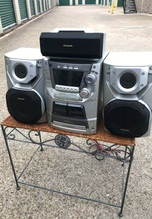 Panasonic Home Stereo System 5 CD Changer Dual Cassette Radio for Sale in Mesquite, TX