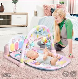 3 in 1 Fitness Music and Lights Baby Gym Play Mat-Pink for Sale in Santa Ana,  CA
