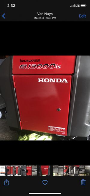 EXCELLENT HONDA 3000 inverter. Great and reliable generator in case of an emergency or if you have an RV. for Sale in Los Angeles, CA