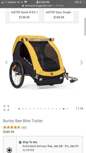Burley bike trailer for 2 person for Sale in Fairfax Station, VA