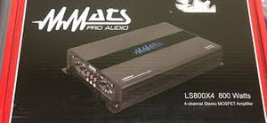 MMATS pro audio ls800x4 800 watts 4ch stereo mosfet amp for Sale in Miami, FL