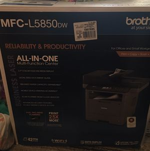 Brother Monochrome Laser Multifunction All-In-One Printer, MFC-L6700DW, Duplex Two-Sided Printing & Scanning & Copying, Wireless Networking, Mobile P for Sale in Leesburg, VA