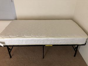 Queen and twin mattress &foldable metal frame for Sale in Gainesville, VA