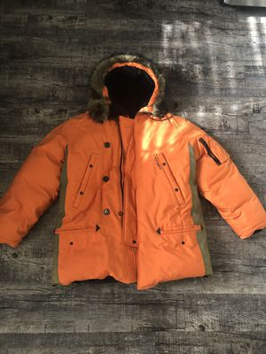 Vintage POLO Jeans Co Down Fur Trim XL PARKA Coat Jacket Puffer Hood for Sale in Inglewood, CA