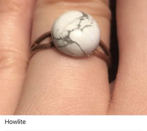 Handmade adjustable howlite ring for Sale in Nashville, TN