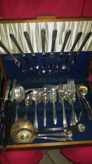 Vintage silver plated 70 piece silverware set for Sale in Fort Lauderdale, FL