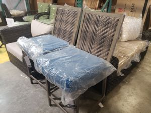 New pair of outdoor patio furniture bar stools tax included delivery available for Sale in Hayward, CA
