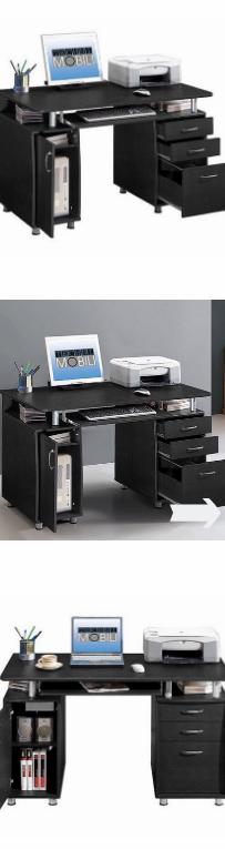 NEW Super Storage Computer Desk Espresso Office Modern Home Studio Workstation Furniture Wood Laptop Table Shelf Cabinet Drawers and Shelves *↓READ↓* for Sale in Chula Vista, CA