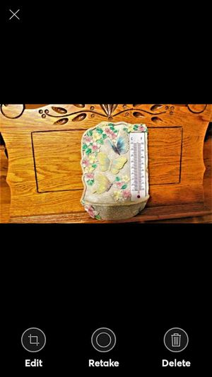 SPOONTIQUES BIRDFEEDER/THERMOMETER WITH BUTTERFLIES for Sale in Lynchburg, VA