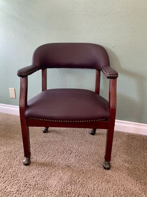 Purple Wood Office Chair for Sale in Las Vegas, NV