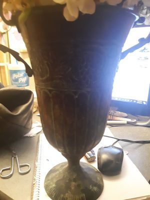 Antique vase brass type tall for Sale in Alexandria, LA