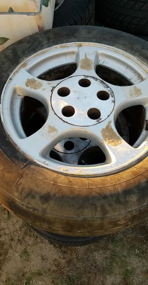 4 mustang rims and tires for Sale in Bowdoin, ME