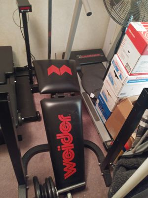 Weider Weight Set/ with bench for Sale in Denver, CO