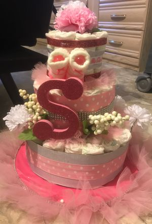 Baby shower diaper cake for Sale in Spring Valley, CA