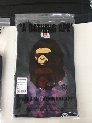 Bape kids. Zip up milo shark. And purple camp ape and Milo (Authentic New) for Sale in Nashville, TN