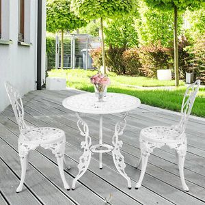 Bistro Set of 3 White Home Garden Decor for Sale in Phoenix, AZ
