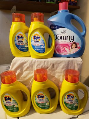 ●PICK UP BELL GARDENS●$25 BUBDLE: 5 TIDE SIMPLY 22 LOAD BOTTLES & DOWNY ULTRA 150 LOADS for Sale in Bell Gardens, CA