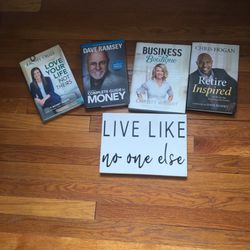 Dave Ramsey Books And Frame for Sale in Clifton,  NJ