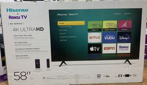 "Brand new 58"" hisense roku 4K smart tv for Sale in Anaheim, CA"