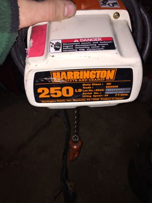 Harrington chain hoist for Sale in Severna Park, MD