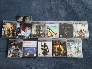 12GB PS3 w/ 11 games for Sale in Philadelphia, PA