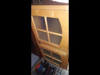 """Kitchen Cabinet With Glass Doors 36"""" Width, 18"""" Height, 13"""" Depth Additional pics on requested for Sale in Buckley,  WA"""