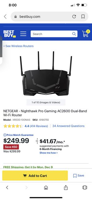 Gaming Router and modem for sale. for Sale in Benbrook, TX