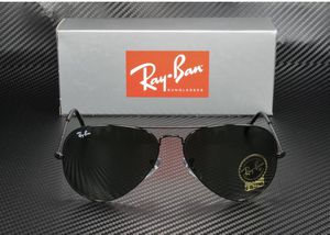 Ray Ban RB 3025 L2823 Aviator Sunglasses Black-Black/ G15 Glass Lens 58mm 100% UV Protection/Authentic for Sale in Miami, FL